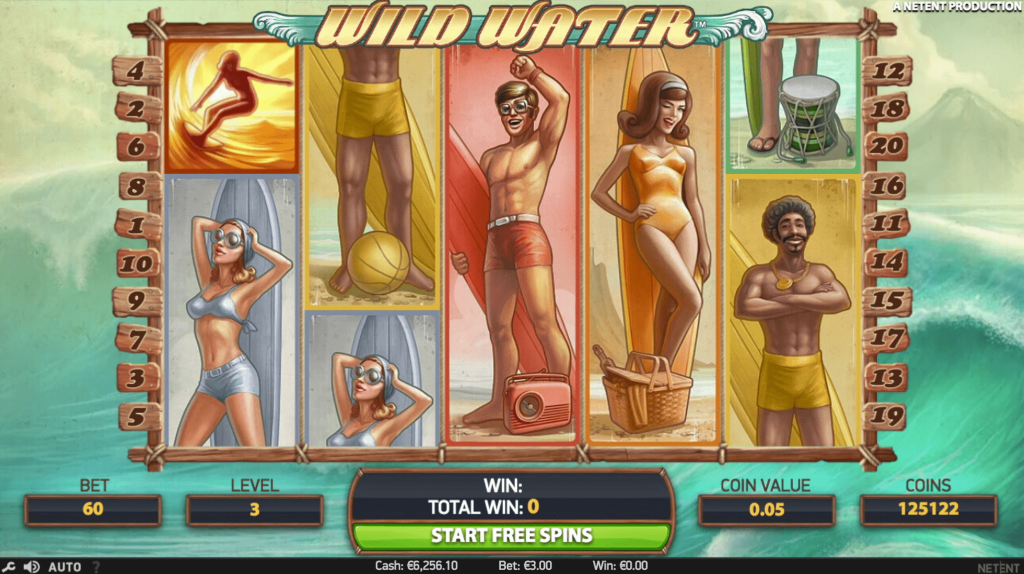 NetEnt Review of  Wild Water Slot