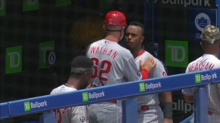 Philadelphia Phillies lose game and temper