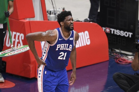 Joel Embiid exits game 4 with injury