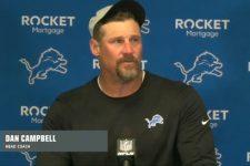 Dan Campbell breaks down after loss